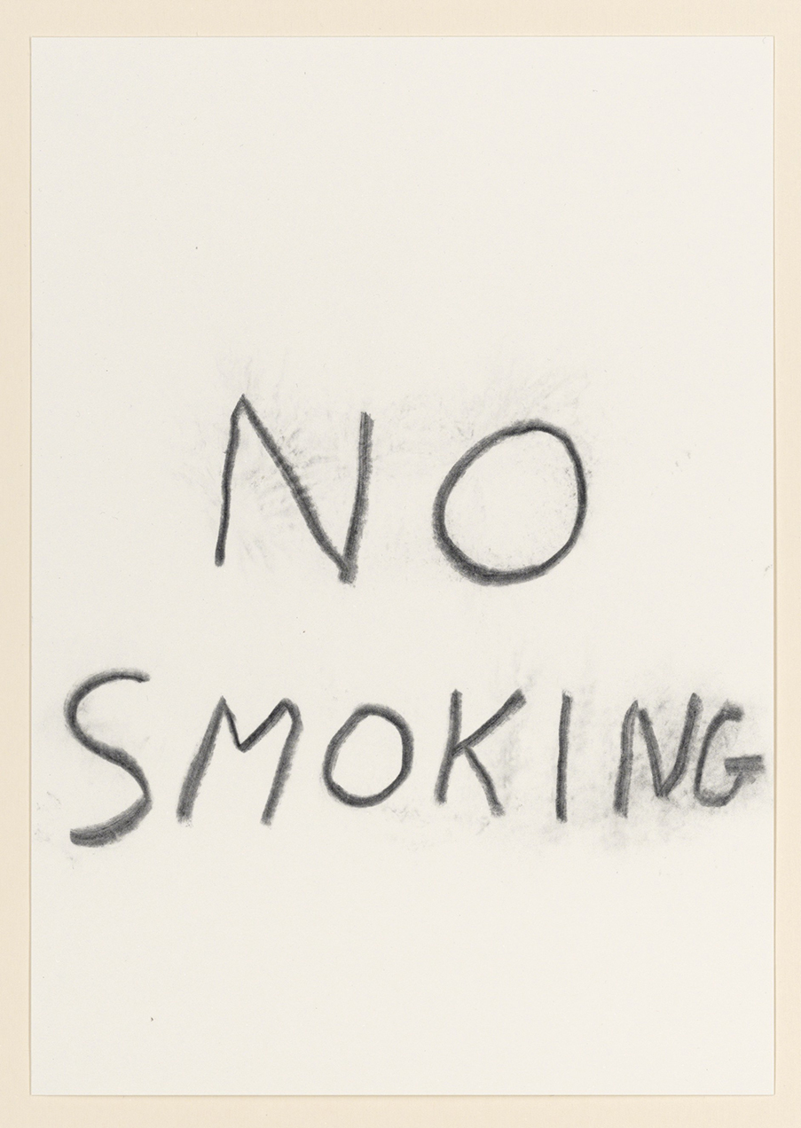 David Shrigley: 'No Smoking'.