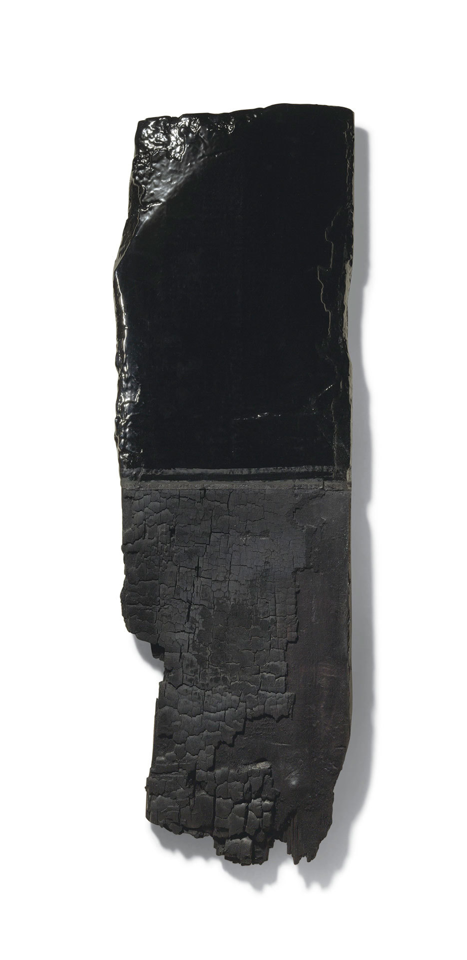 Simon Starling: 'Layers of Darkness (Charred, Lacquered)'.